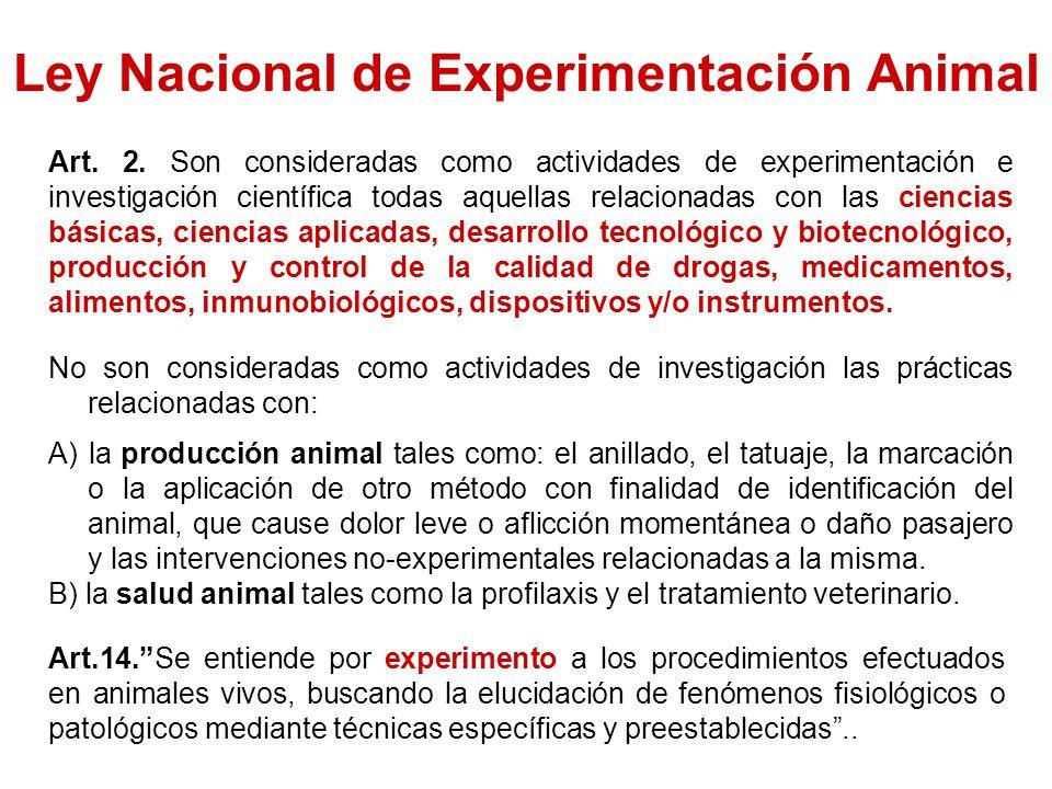 Ley Nacional de Experimentación Animal