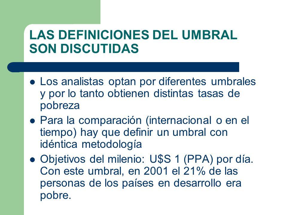 LAS DEFINICIONES DEL UMBRAL SON DISCUTIDAS