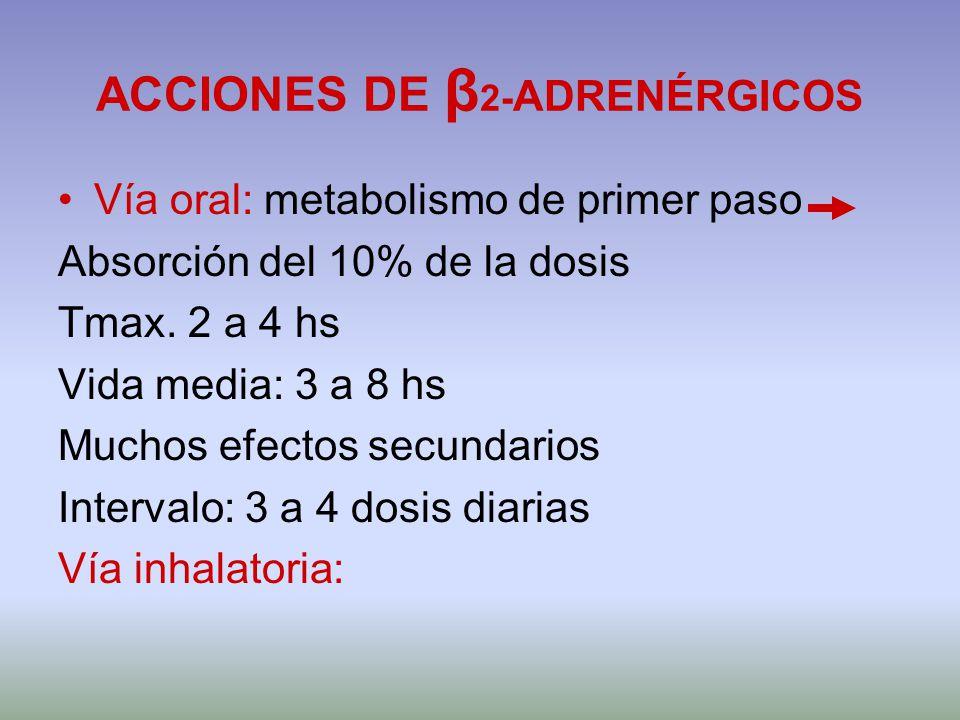 ACCIONES DE β2-ADRENÉRGICOS