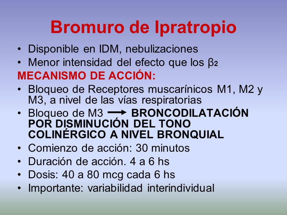 Bromuro de Ipratropio Disponible en IDM, nebulizaciones