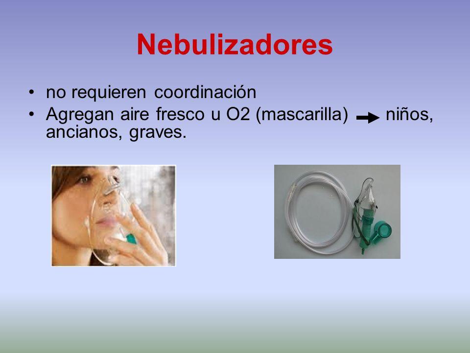 Nebulizadores no requieren coordinación