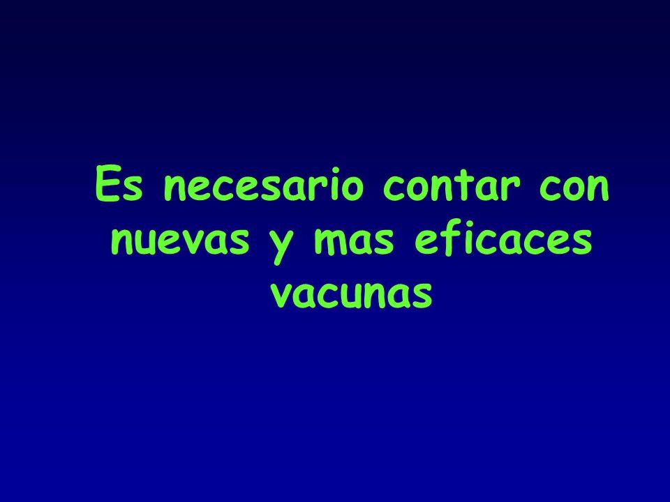 Es necesario contar con nuevas y mas eficaces vacunas