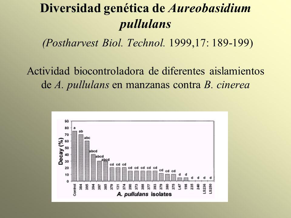 Diversidad genética de Aureobasidium pullulans (Postharvest Biol