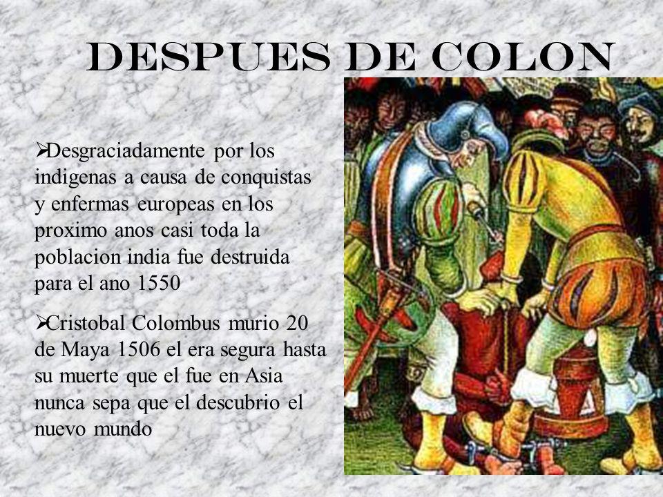Despues de Colon