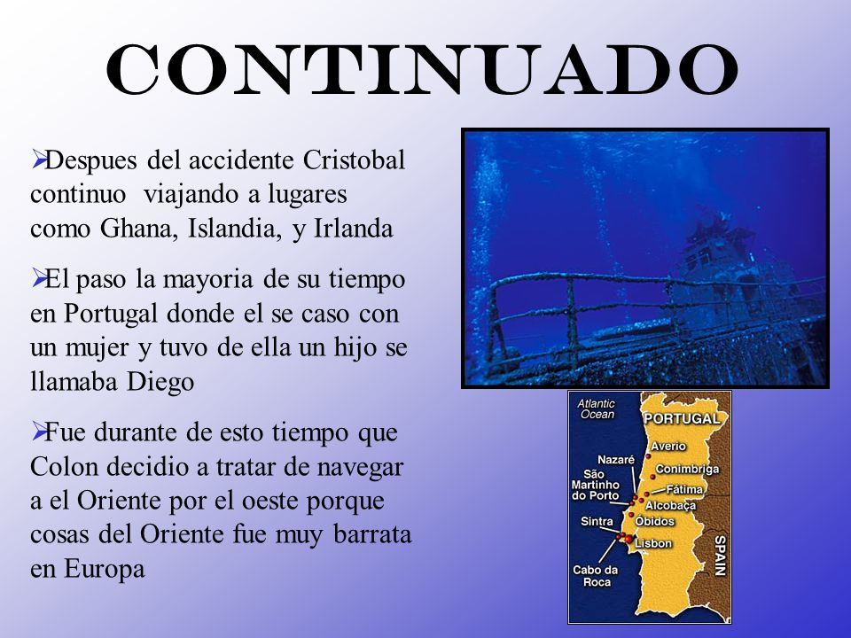 Continuado Despues del accidente Cristobal continuo viajando a lugares como Ghana, Islandia, y Irlanda.