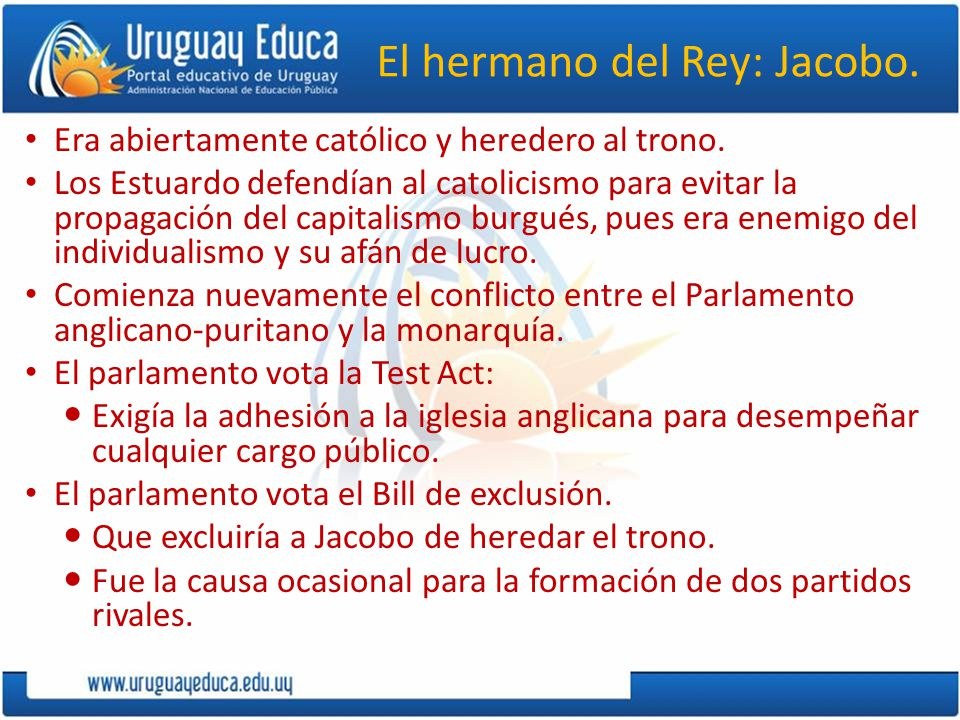 El hermano del Rey: Jacobo.