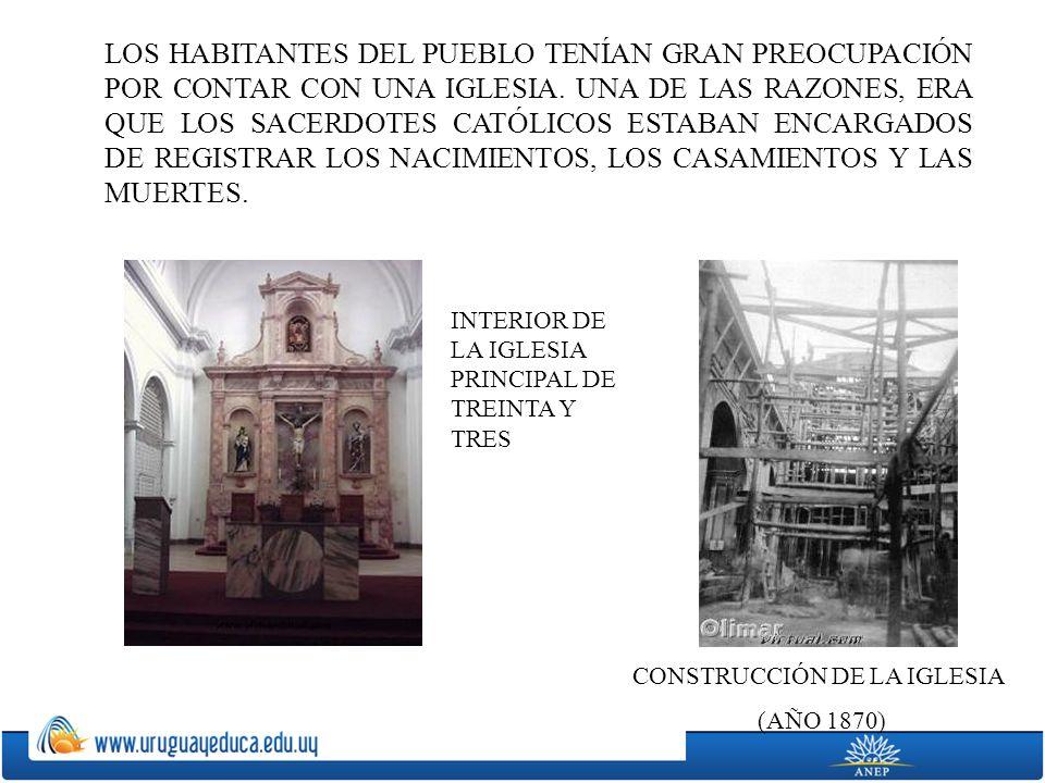 CONSTRUCCIÓN DE LA IGLESIA