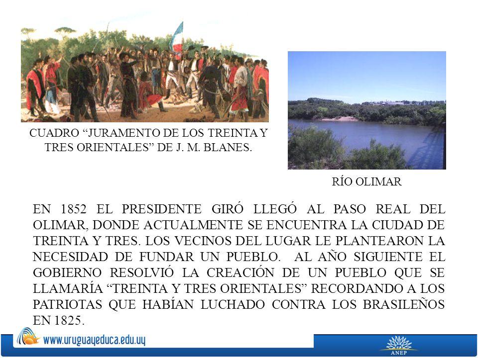 CUADRO JURAMENTO DE LOS TREINTA Y TRES ORIENTALES DE J. M. BLANES.