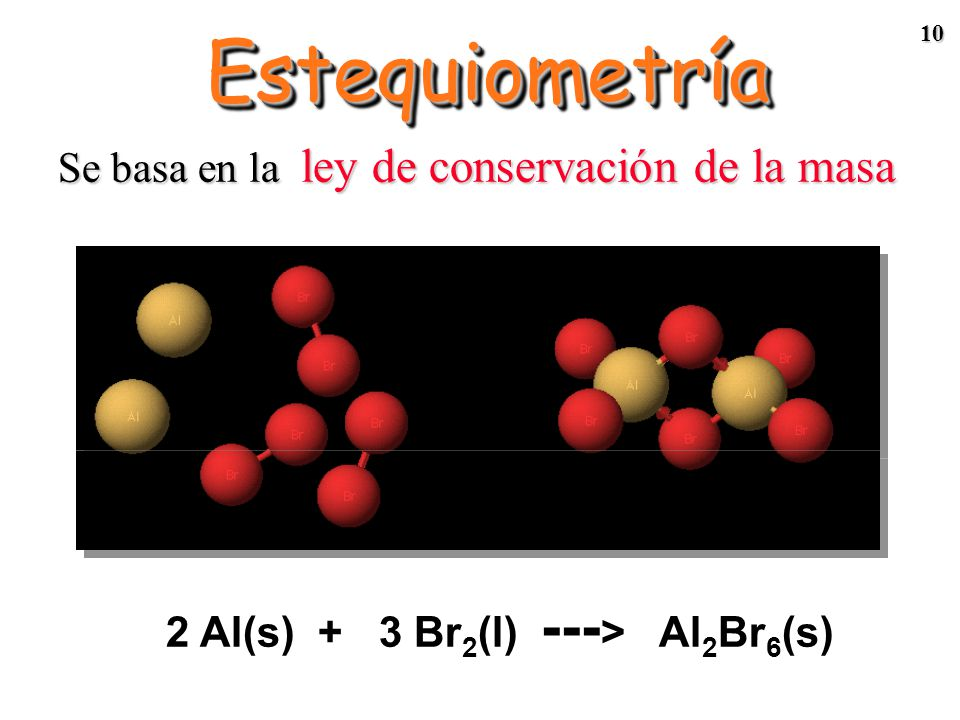 2 Al(s) + 3 Br2(l) ---> Al2Br6(s)