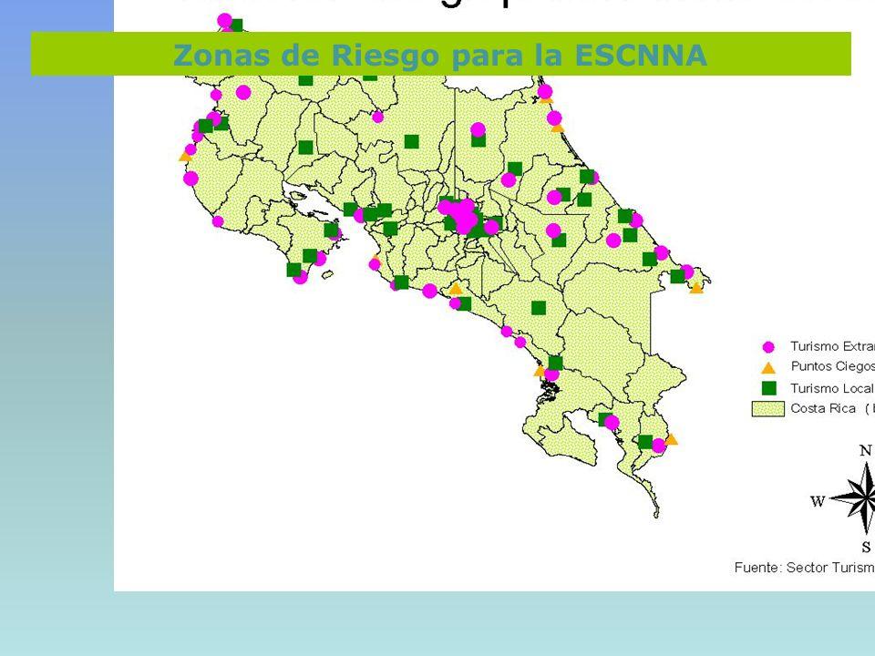 Zonas de Riesgo para la ESCNNA