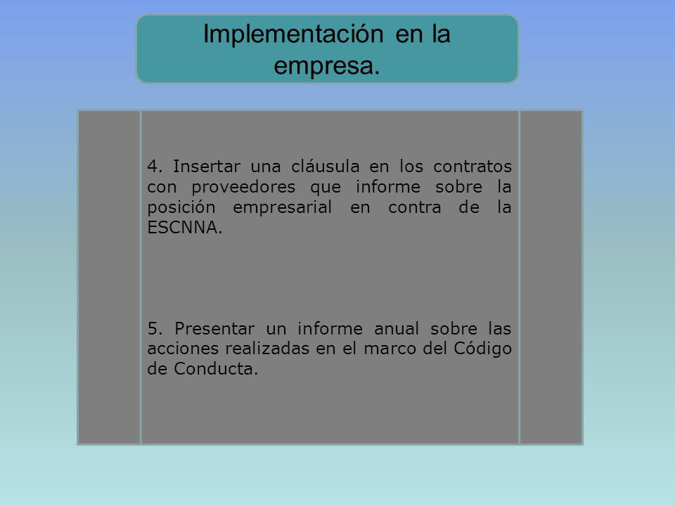 Implementación en la empresa.