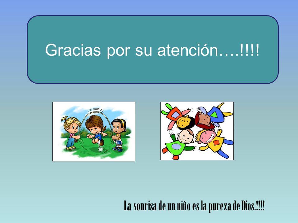 Gracias por su atención….!!!!