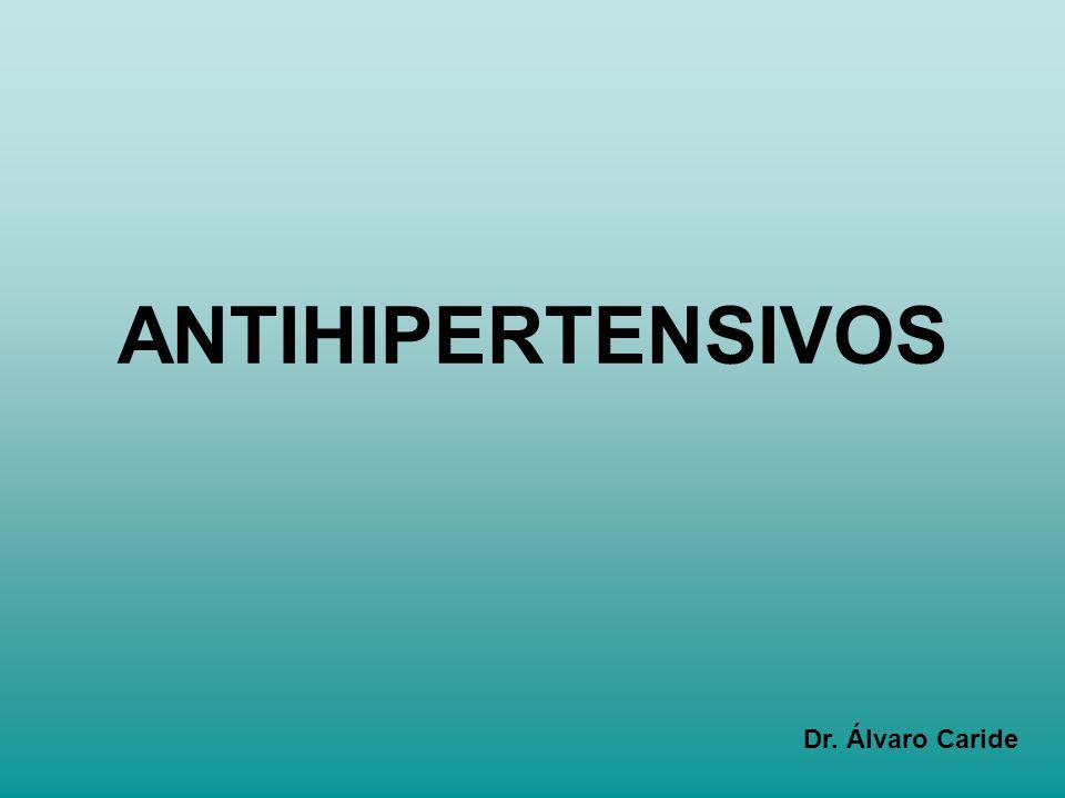 ANTIHIPERTENSIVOS Dr. Álvaro Caride