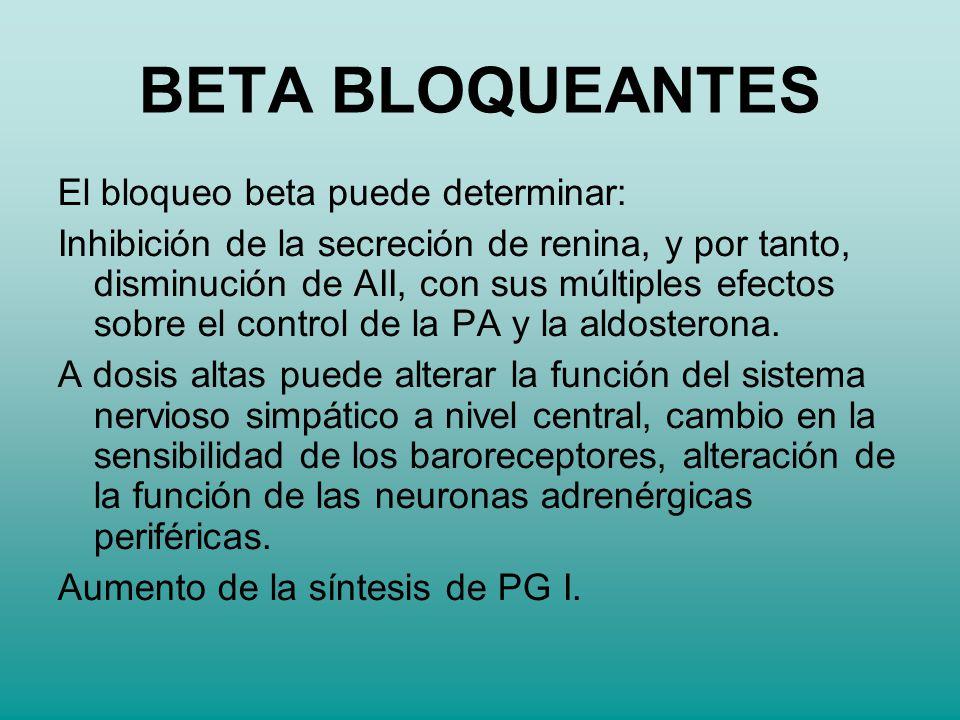 BETA BLOQUEANTES El bloqueo beta puede determinar: