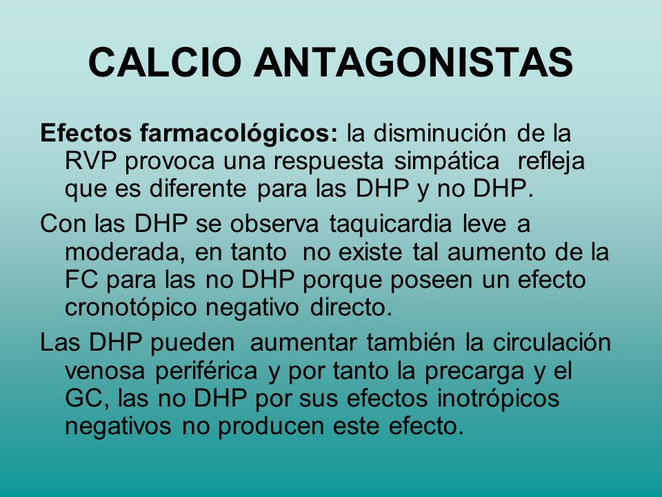 CALCIO ANTAGONISTAS