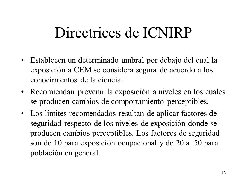 Directrices de ICNIRP