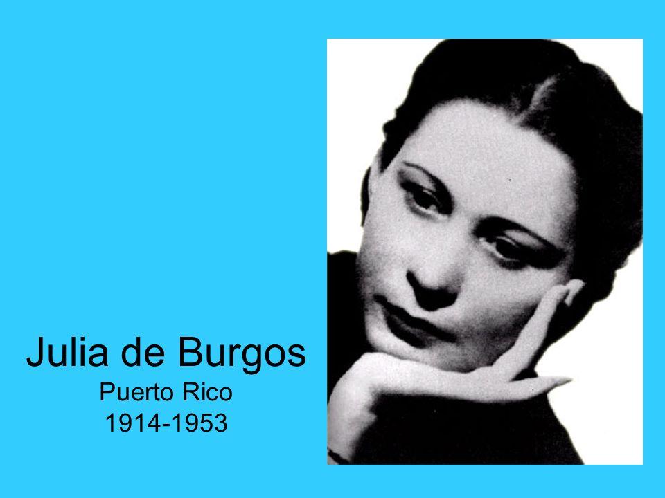 Julia de Burgos Puerto Rico 1914-1953