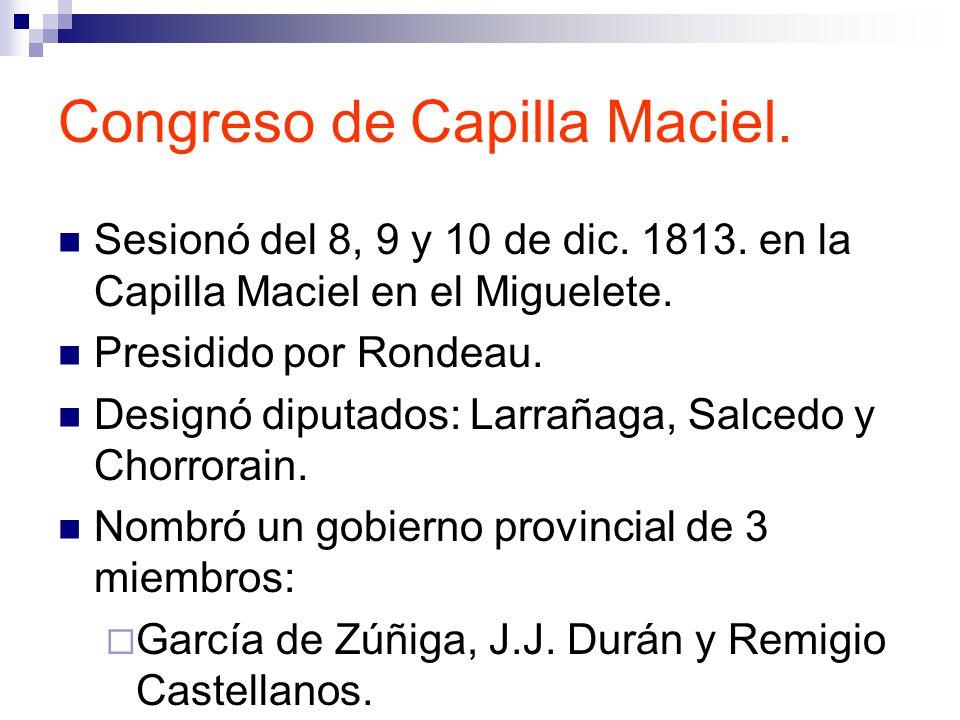 Congreso de Capilla Maciel.