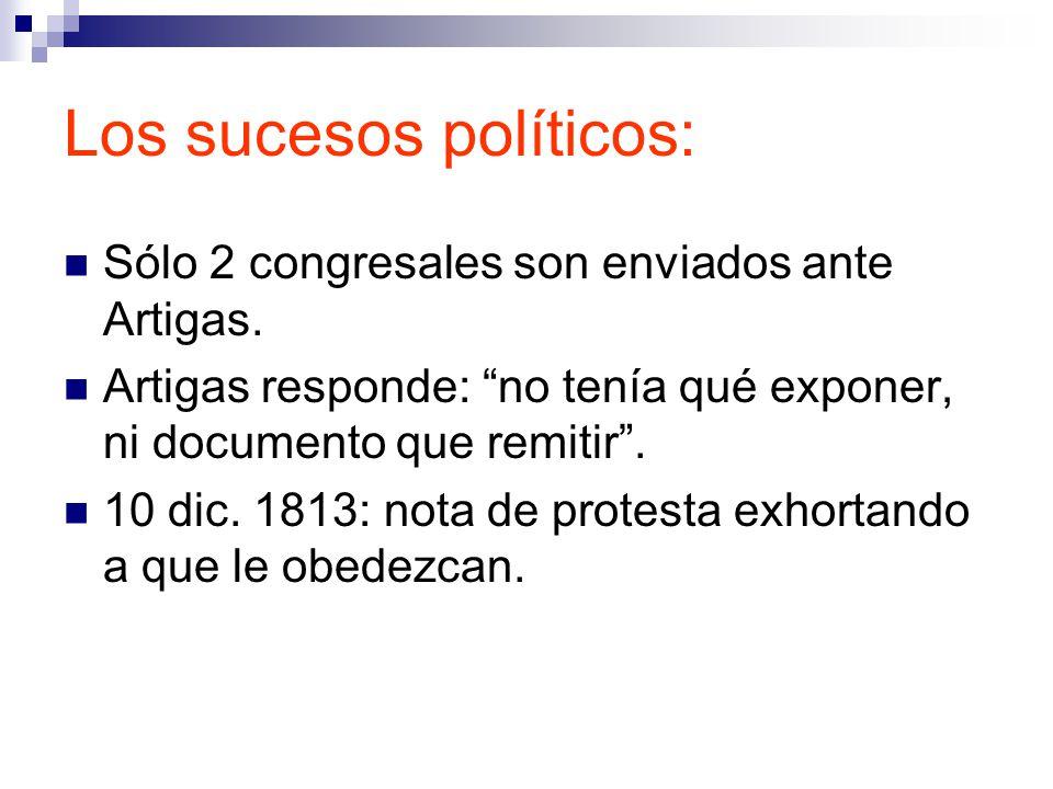 Los sucesos políticos: