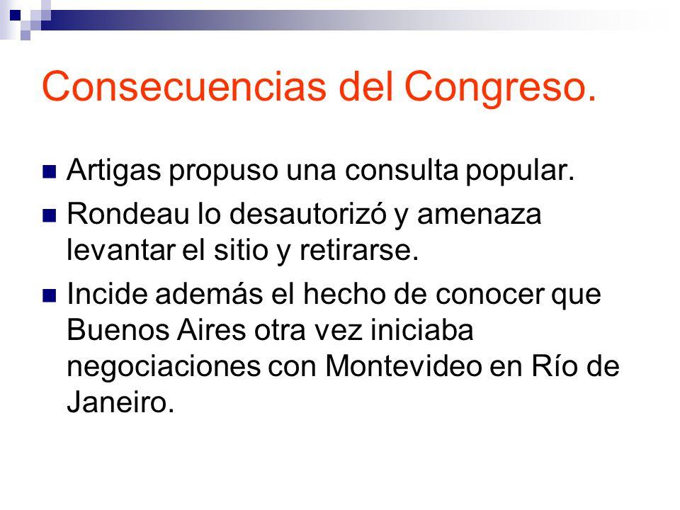 Consecuencias del Congreso.