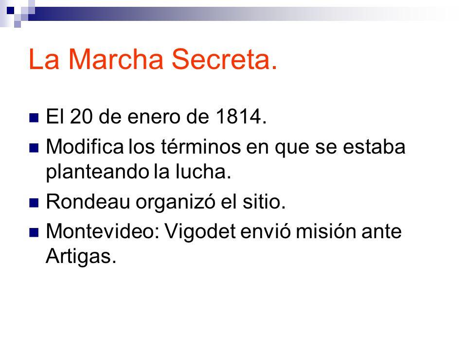 La Marcha Secreta. El 20 de enero de 1814.