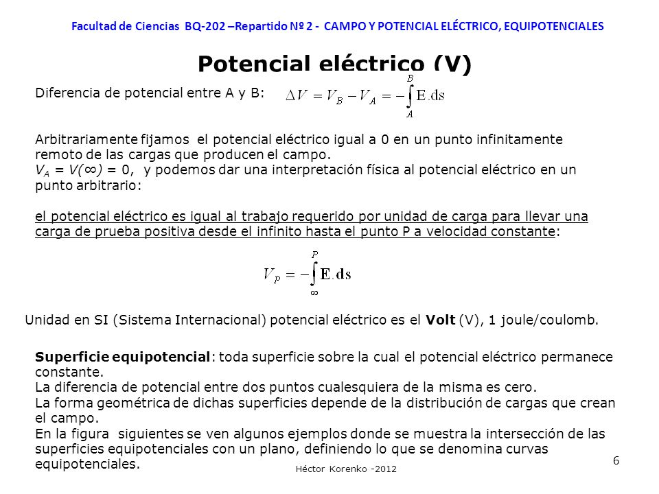 Potencial eléctrico (V)