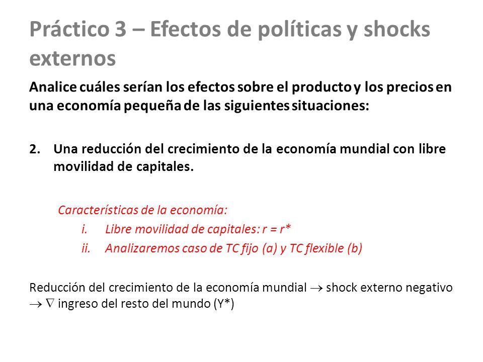 Práctico 3 – Efectos de políticas y shocks externos