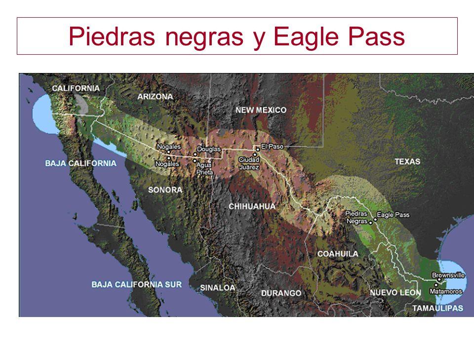 Piedras negras y Eagle Pass