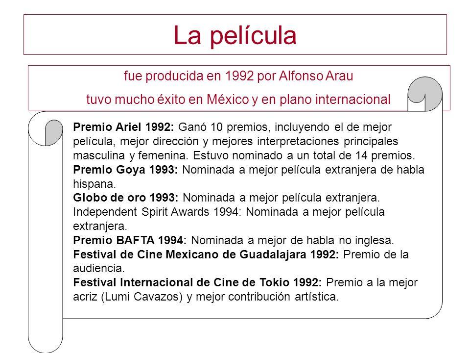 La película fue producida en 1992 por Alfonso Arau
