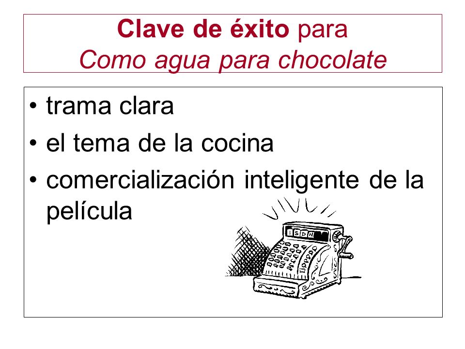 Clave de éxito para Como agua para chocolate