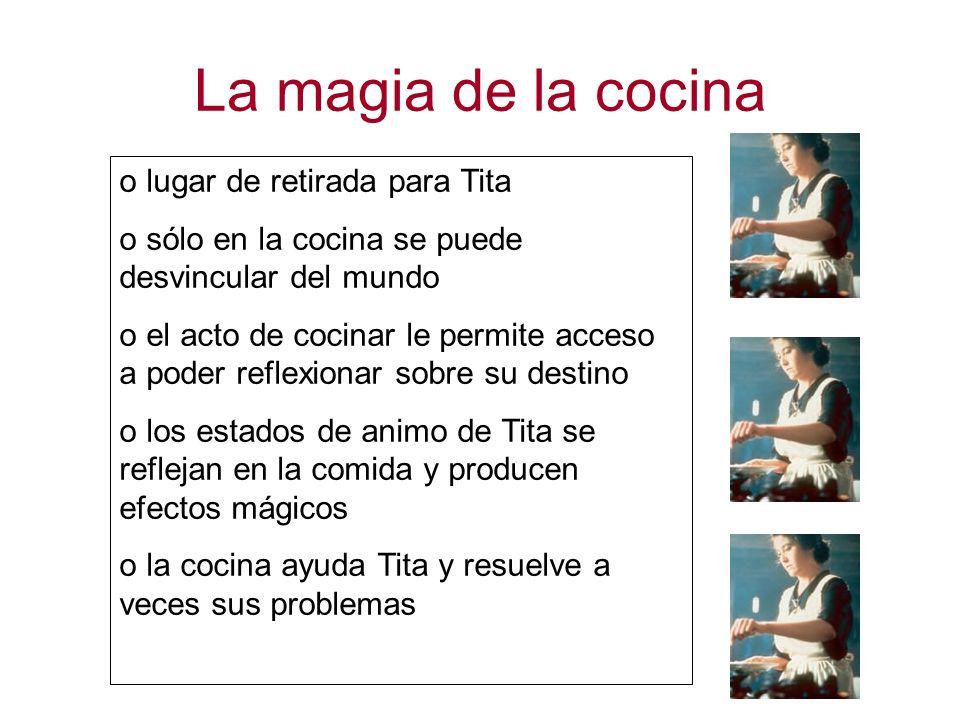 La magia de la cocina lugar de retirada para Tita