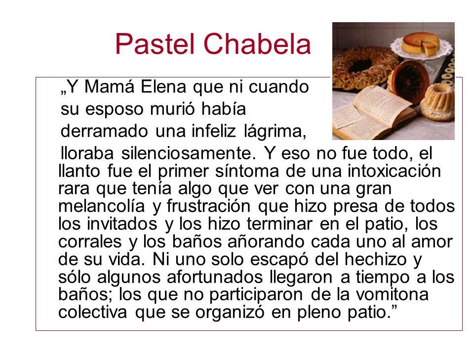 """Pastel Chabela """"Y Mamá Elena que ni cuando su esposo murió había"""