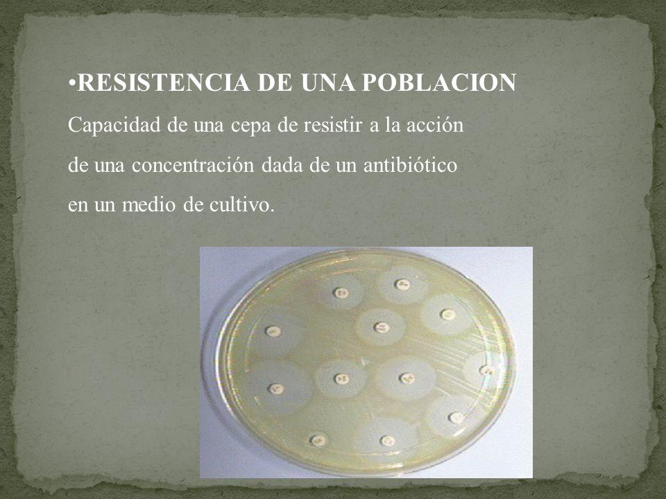 RESISTENCIA DE UNA POBLACION