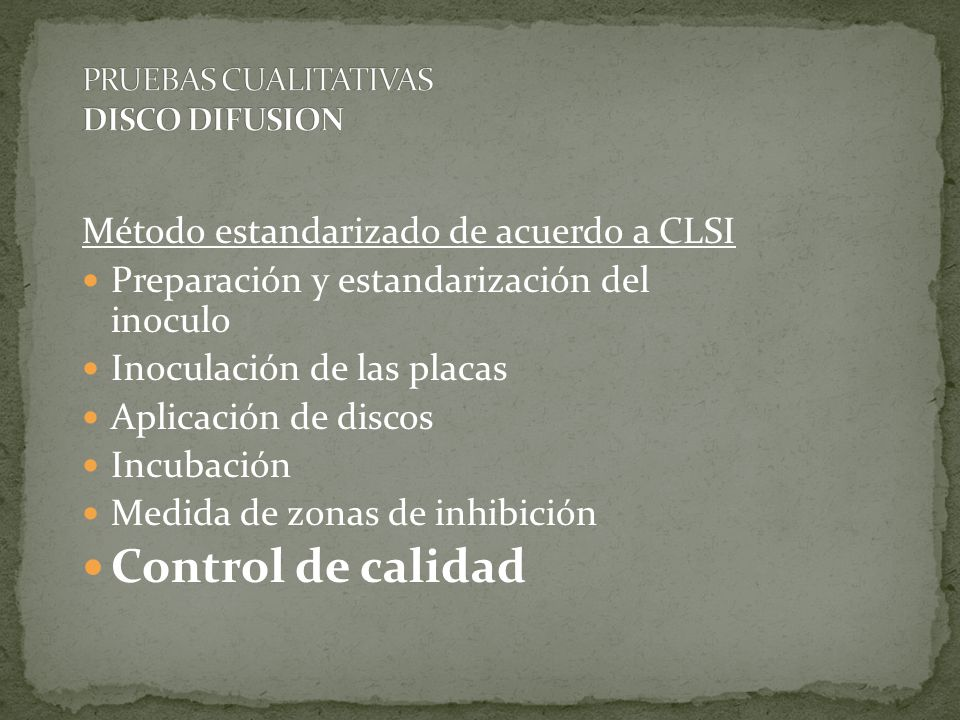PRUEBAS CUALITATIVAS DISCO DIFUSION