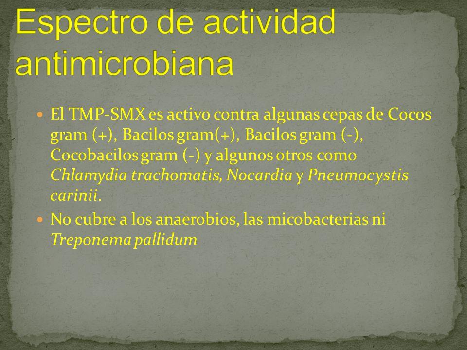 Espectro de actividad antimicrobiana