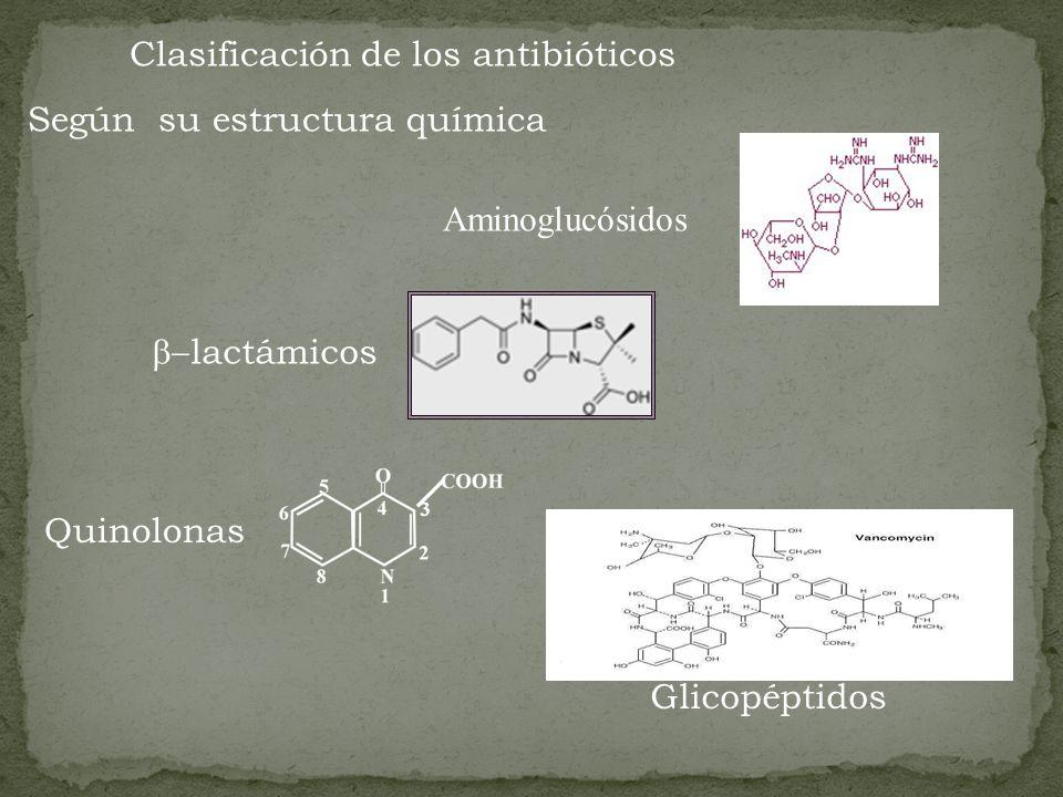 Clasificación de los antibióticos