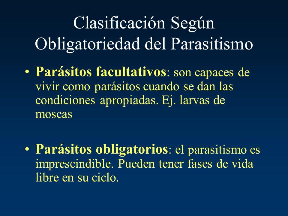 Clasificación Según Obligatoriedad del Parasitismo
