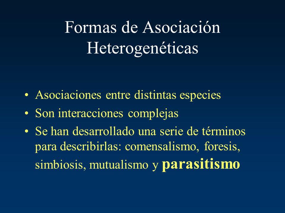 Formas de Asociación Heterogenéticas