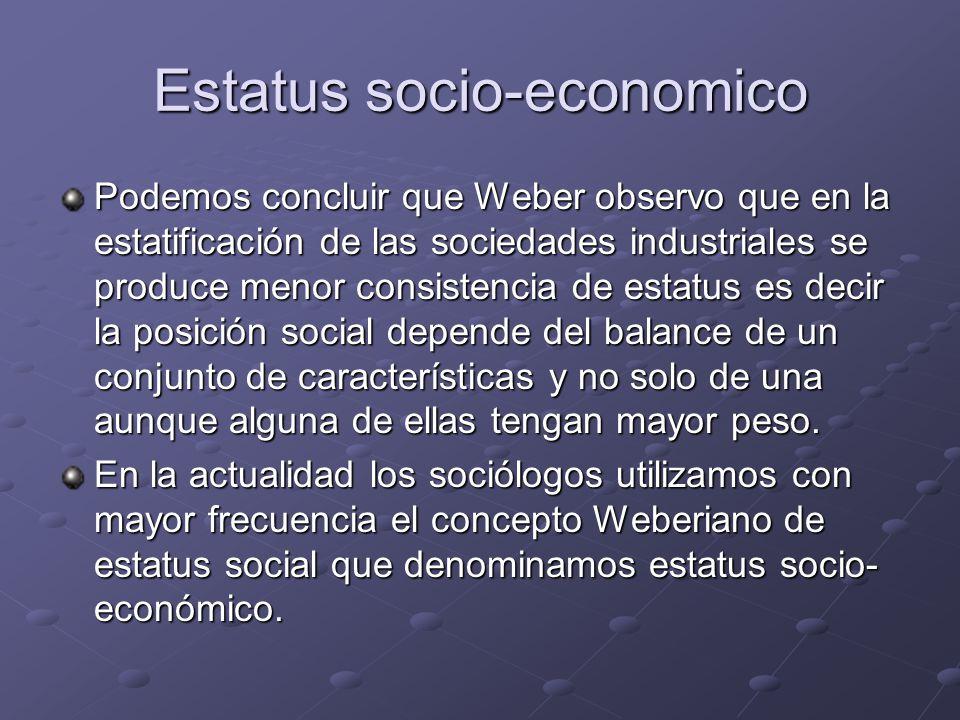 Estatus socio-economico