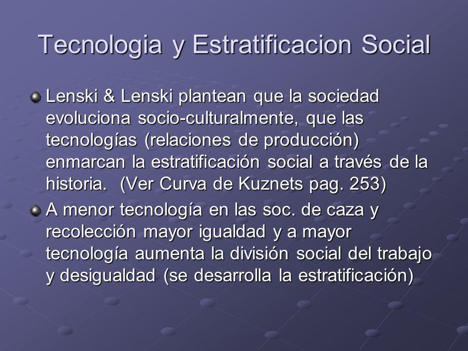 Tecnologia y Estratificacion Social