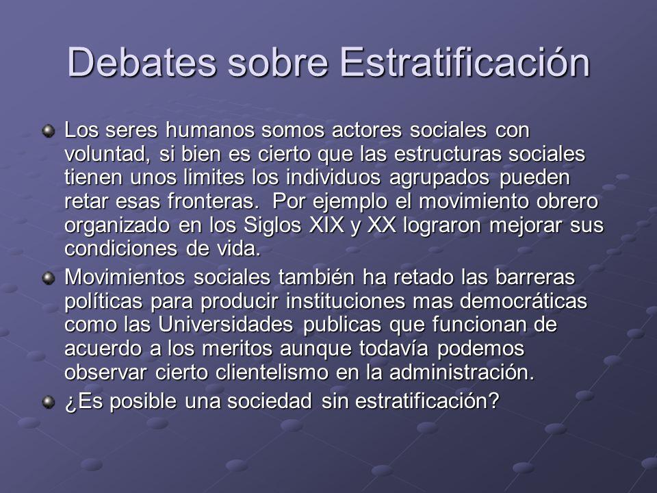 Debates sobre Estratificación