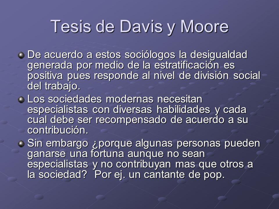 Tesis de Davis y Moore
