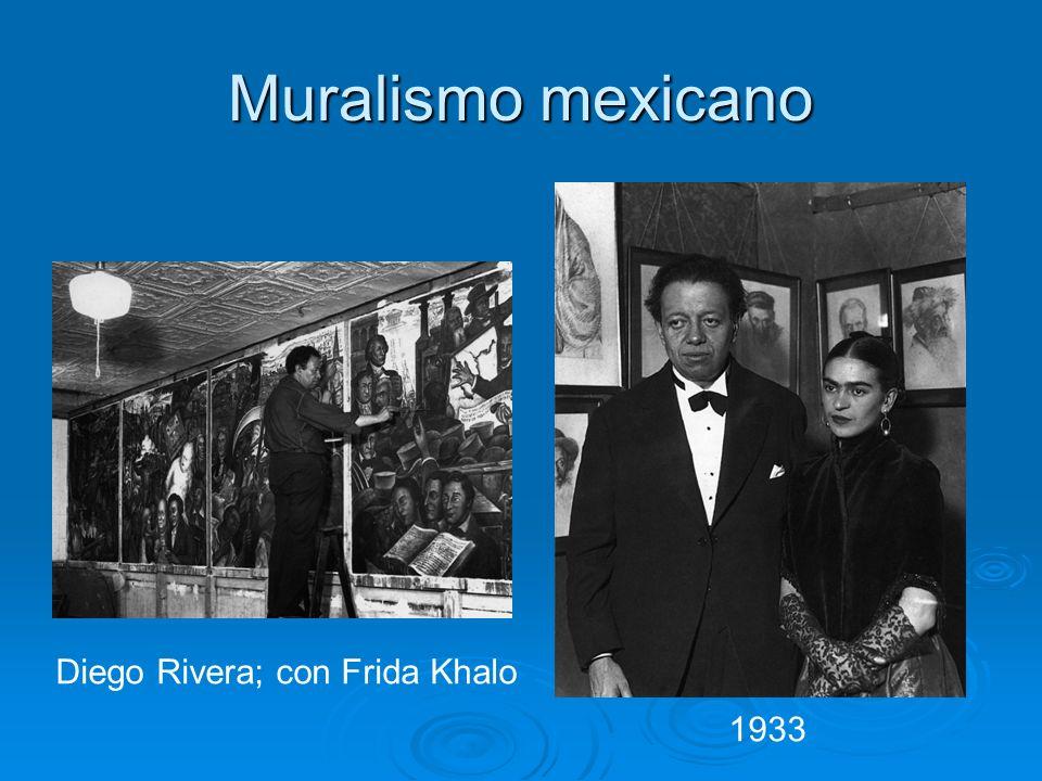 Muralismo mexicano Diego Rivera; con Frida Khalo 1933