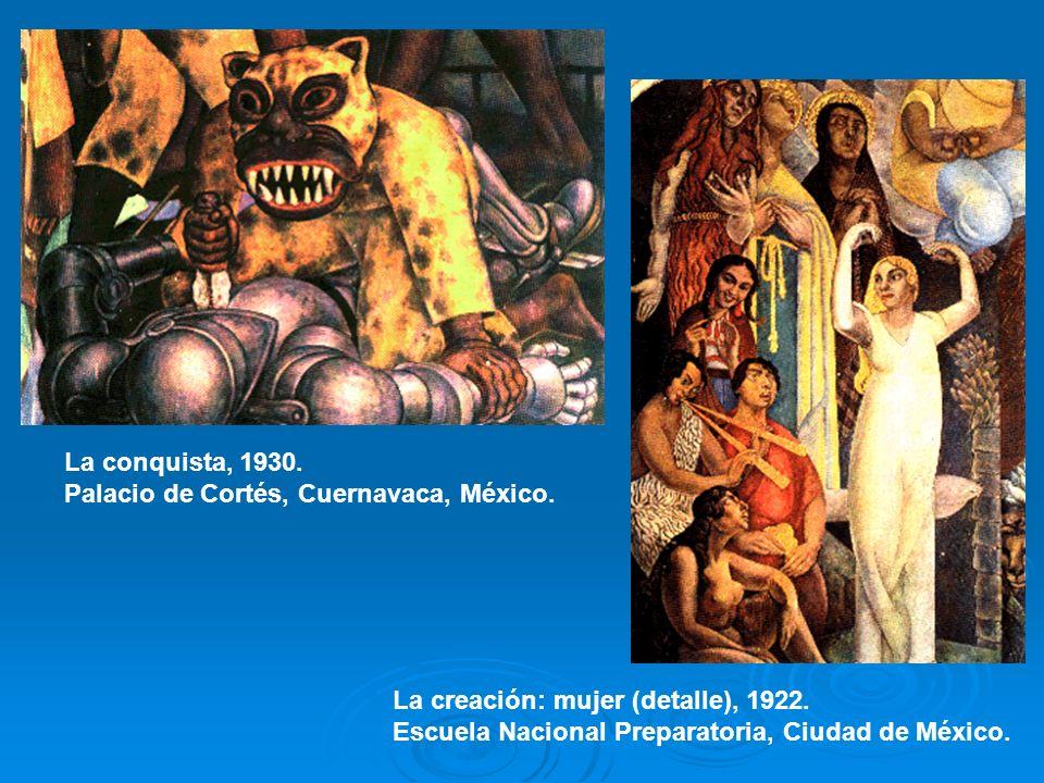 La conquista, 1930. Palacio de Cortés, Cuernavaca, México.