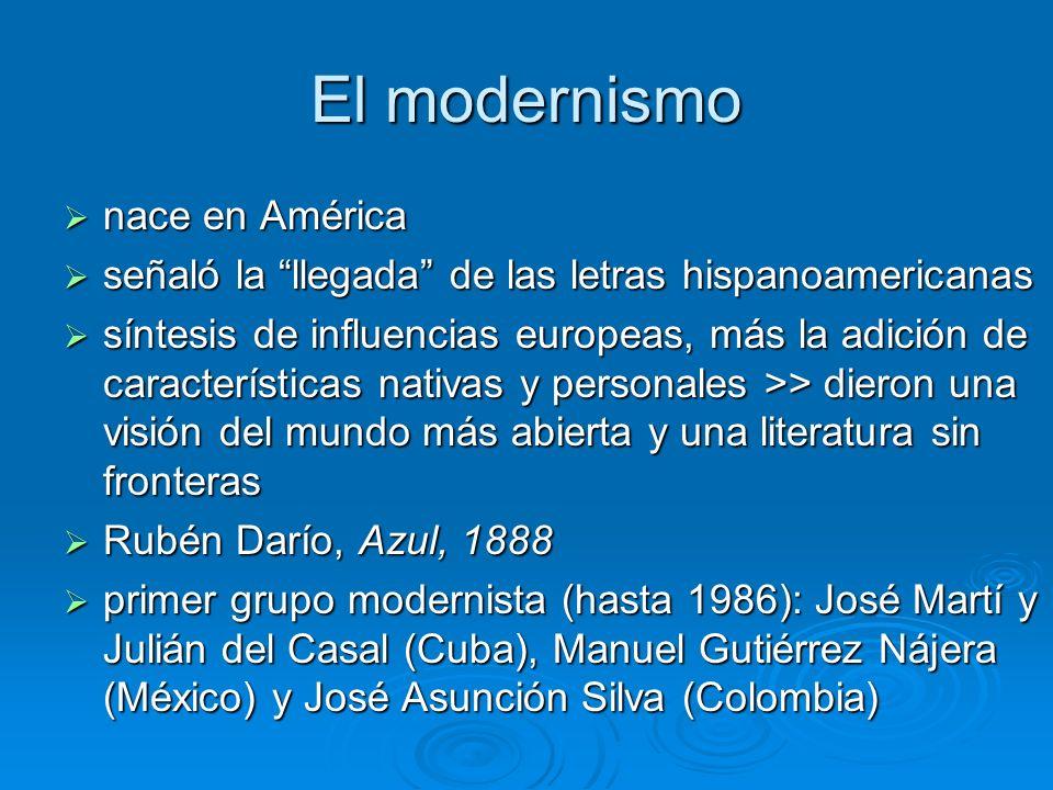 El modernismo nace en América