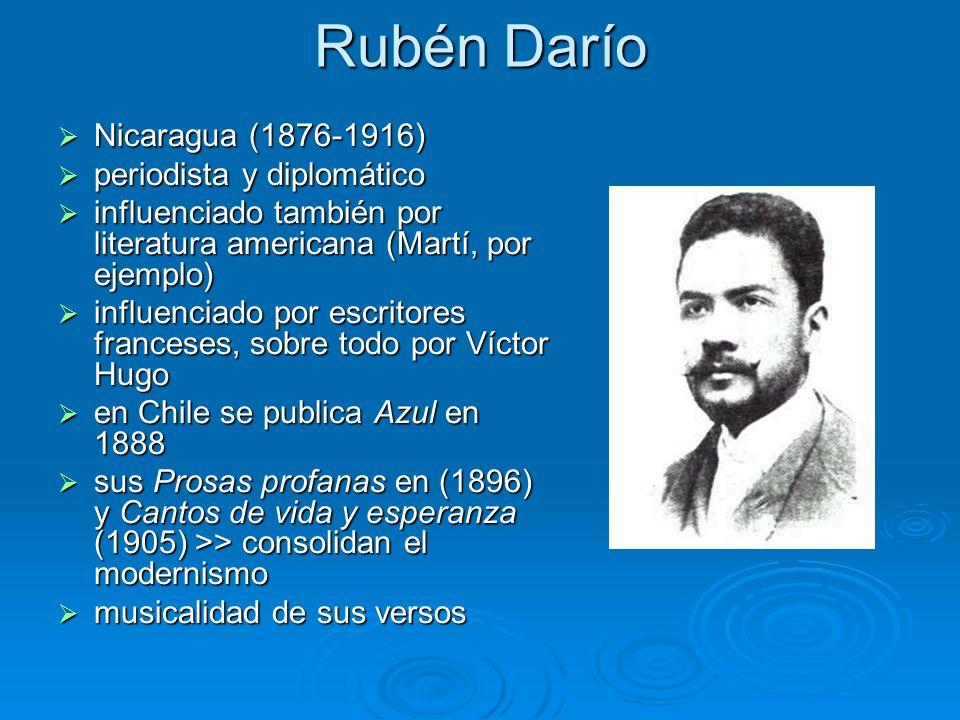 Rubén Darío Nicaragua (1876-1916) periodista y diplomático