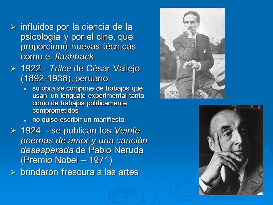 1922 - Trilce de César Vallejo (1892-1938), peruano
