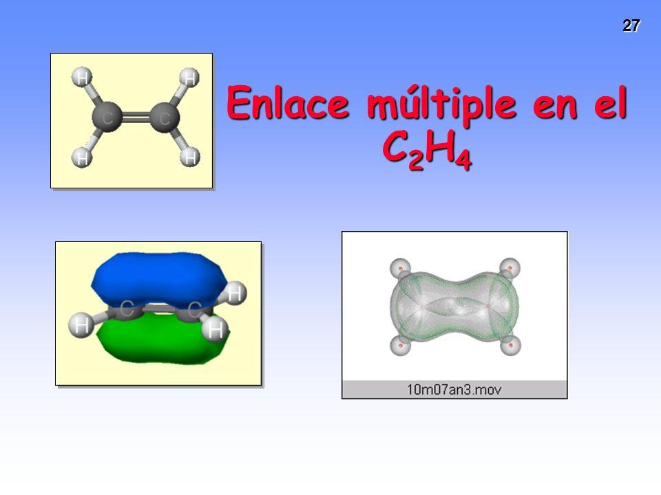 Enlace múltiple en el C2H4
