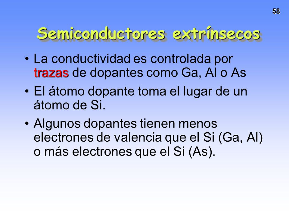 Semiconductores extrínsecos