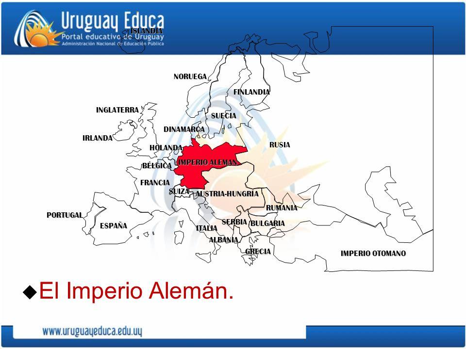 El Imperio Alemán. ISLANDIA NORUEGA FINLANDIA INGLATERRA SUECIA